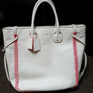 white leather COACH luxurious brand new tote bag